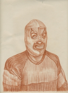 Santo, sanguine pencil, 2004